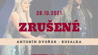 Rusalka - zrušené predstavenie